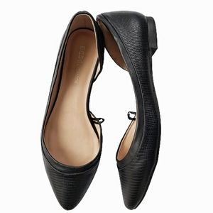 BCBGeneration Black Pointed Toe Flats